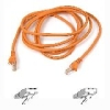 Belkin Cat. 5E UTP Patch Cable - RJ-45 Male - RJ-45 Male - 12ft - Orange