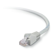 Belkin High Performance Cat. 6 UTP Network Patch Cable - RJ-45 Male - RJ-45 Male - 9.84ft - Gray
