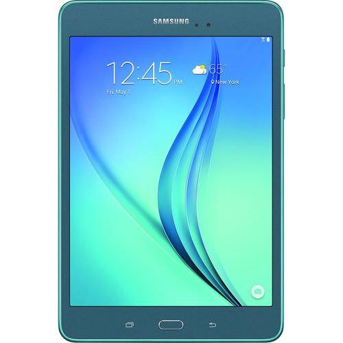 """Samsung Galaxy Tab A SM-T350 Tablet - 8"""" - 1.50 GB - Qualcomm Snapdragon 410 APQ8016 Quad-core (4 Core) 1.20 GHz - 16 GB - Android 5.0 - Smokey Blue"""