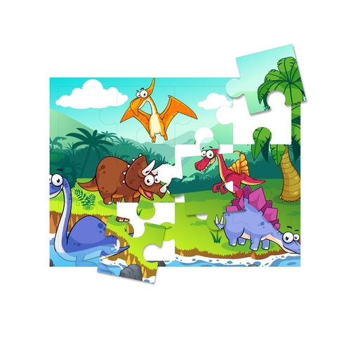 """Print-A-Puzzle - Pre-Perforated, Printable, Blank Puzzle Paper - 8.5""""X11"""" Pack Of 25, 12 Jigsaw Pieces Per Sheet"""