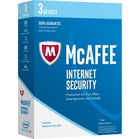 McAfee Internet Security 2017 - 3 Device - Internet Security Box Retail