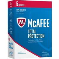 McAfee Total Protection 2017 - 5 Device - Internet Security Box Retail