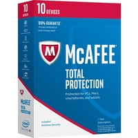 McAfee Total Protection 2017 - 10 Device - Internet Security Box Retail