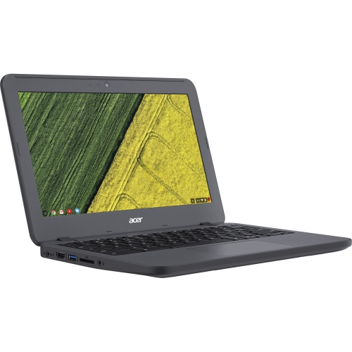 """Acer Chromebook 11 N7 C731T-C0X8 11.6"""" Touchscreen LCD Chromebook - Intel Celeron N3060 Dual-core (2 Core) 1.60 GHz - 4 GB LPDDR3 - 32 GB Flash Memory - Chrome OS - 1366 x 768 - CineCrystal, In-plane Switching (IPS) Technology - Gray - Intel HD Graphics 400 LPDDR3 - Bluetooth - Front Camera/Webcam - IEEE 802.11ac - HDMI - 2 x USB 3.0 Ports"""