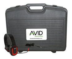 Avid Products AE-66 Over-Ear Headphones Classroom Pack & Case (Red - 24Pack)