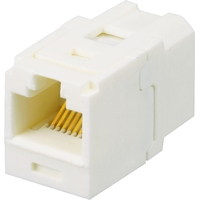 CAT6 OFF WHT COUPLER MOD UTP