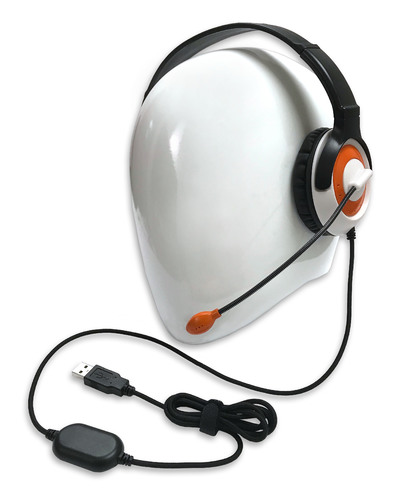 AE-55 On-Ear Headset with Microphone (USB - Orange)