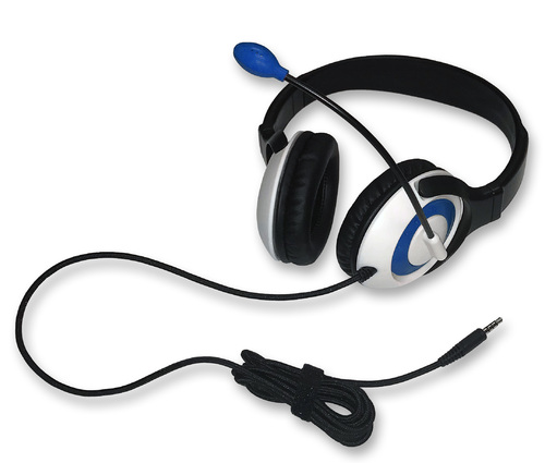 AE-55 On-Ear Headset with Microphone (TRRS - Blue)