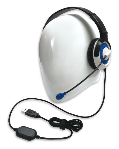 AE-55 On-Ear Headset with Microphone (USB - Blue)