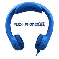 Flex-PhonesXL - Indestructible, Single-Construction Headphones For Teens (Blue)