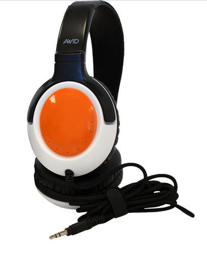 AE-54 Headphones - 3.5mm Plug - Orange-White
