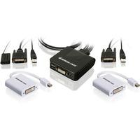2PORT USB DVI CABLE KVM SWITCH