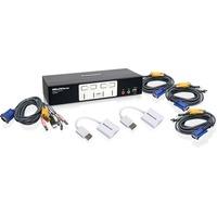 4PORT VGA OSD KVMP W/