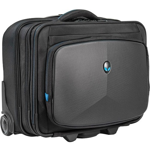 "Mobile Edge AWVRC1 Carrying Case (Rolling Briefcase) for 17.3"" Notebook - Black, Teal"