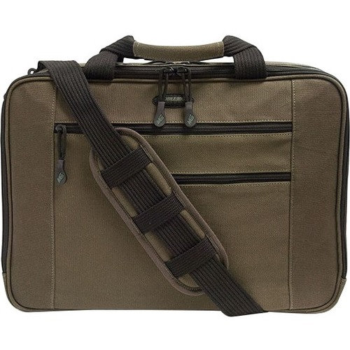 CANVAS ECO BRIEFCASE OLIVE GRN