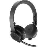 Logitech Zone Wireless Headset - Stereo - Wireless - Bluetooth - 98.4 ft - 30 Hz - 13 kHz - Over-the-head - Binaural - Omni-directional, MEMS Technology, Electret, Condenser Microphone - Noise Canceling
