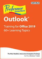 Professor Teaches Outlook for Office 2019 (Win - Download)