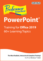 Professor Teaches PowerPoint for Office 2019 (Win - Download)