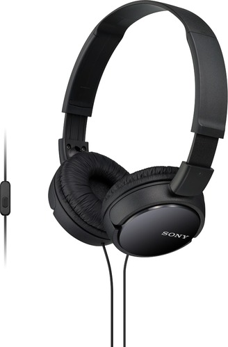 ZX Series Stereo On-Ear Headphones with Mic - Black BP