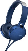 Sony Extra Bass On-Ear Headphones with Mic - Blue Box
