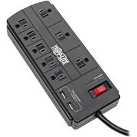 Tripp Lite Surge Protector 8-Outlet 2 USB Charging Ports 8ft Cord