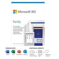 Office 365 - Home (1-year Subscription - Product Key Card) New: 2020 Release