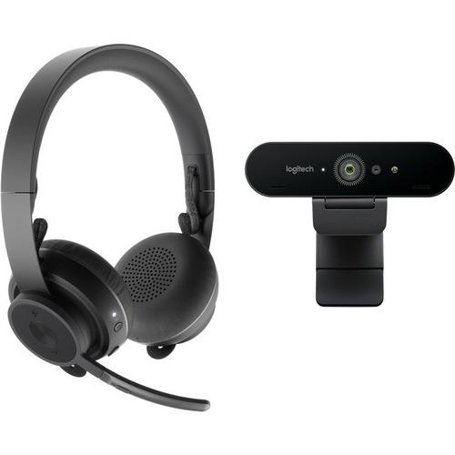Logitech Pro Personal Video Collaboration Kit - Brio Ultra HD Pro Webcam and Zone Wireless headset