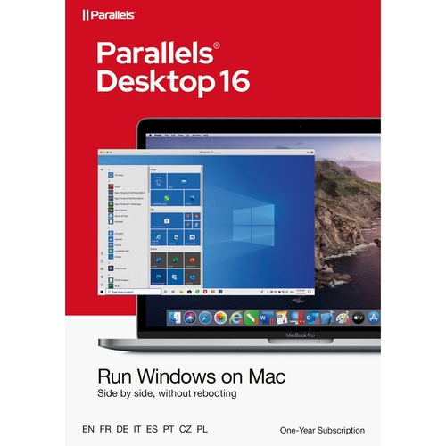 Parallels Desktop 16 for Mac - Electronic Software Download (Student Edition, 1 Year Subscription)