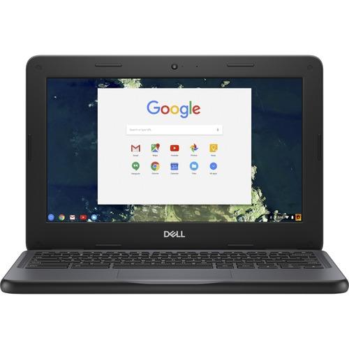 "Dell Chromebook 11 3000 3100 11.6"" Chromebook - HD - 1366 x 768 - Intel Celeron N4020 Dual-core (2 Core) - 4 GB RAM - 32 GB Flash Memory - Chrome OS - Intel HD Graphics - English (US) Keyboard - 14 Hour Battery Run Time - IEEE 802.11ac Wireless LAN Standard"