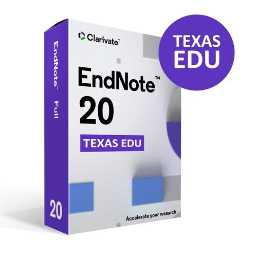 Clarivate Endnote X 20 Download License Mac/Windows - Texas EDU License Program