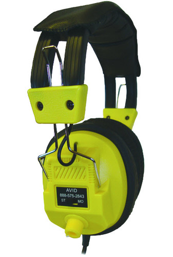 AE-808 Over-Ear Headphones with Volume Control - Yellow - 3.5mm Plug