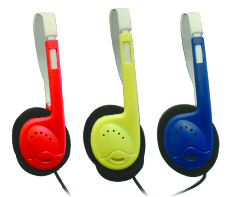 AE-812 Auto Sound Limiting On-Ear Headphones - Red