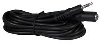 Headphone 10-foot Cord Extension, Single 3.5mm Pin - Black 10ft