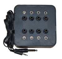 Stereo Jack Box with Volume Control - 8-position Stereo - Black 1Pk Box 8 Sockets