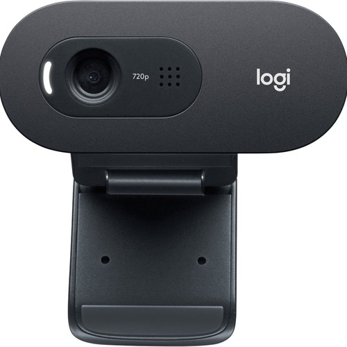 Logitech C505e Webcam - 30 fps - USB - 1280 x 720 Video - Fixed Focus - Widescreen - Microphone - Notebook, Monitor