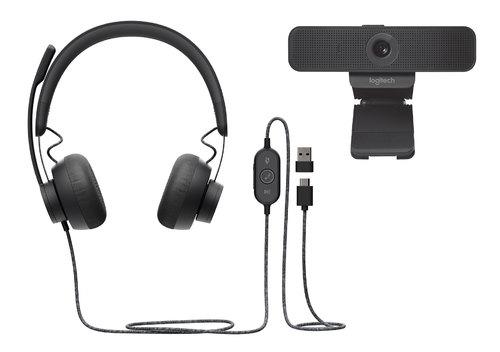 Logitech Zone Headset/Camera Bundle - Stereo - USB Type C - Wired