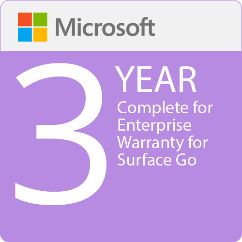 Microsoft Complete for Enterprise (with ADP) Extended Warranty Surface Go - 3 Year Warranty