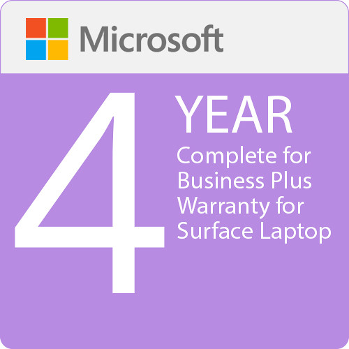 Surface Laptop - Microsoft Complete for Business Plus (with ADP) + Replacement Express Shipping - 4 Years