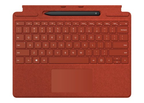 Surface Pro X Signature Type Cover and Slim Pen Bundle - Poppy Red