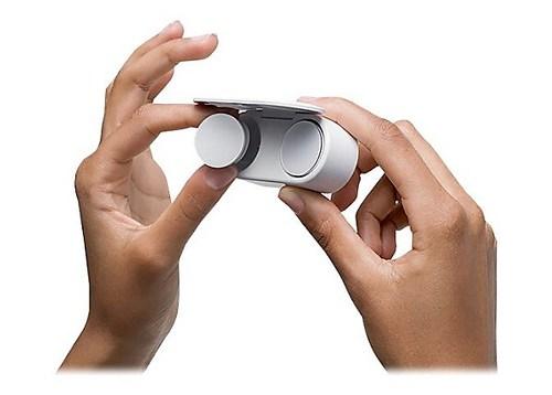 Microsoft Surface Earbuds True Wireless Earphones with Mic - Glacier 1x0.8in BP Bluetooth 4.1