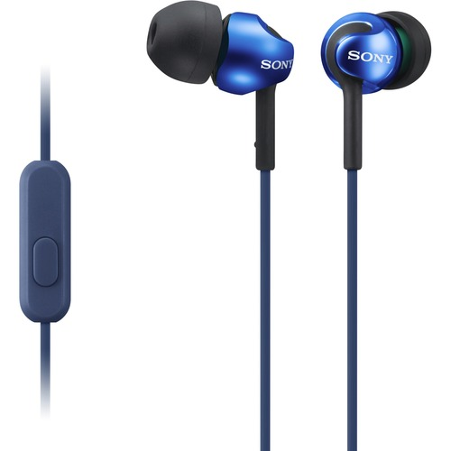 Sony EX Monitor Headphones (Blue) - Stereo - Mini-phone (3.5mm) - Wired - 16 Ohm - 5 Hz - 24 kHz - Earbud - Binaural - In-ear - 3.94 ft Cable - Blue