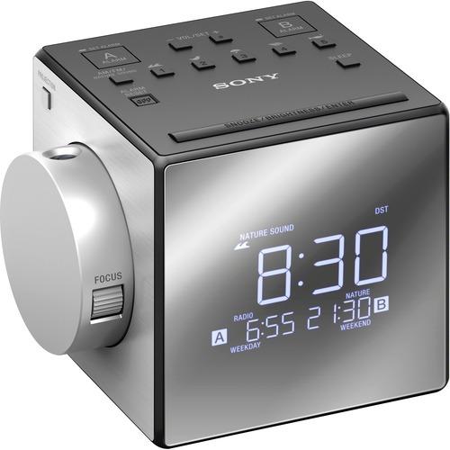 Sony Clock Radio - 100 mW RMS - Mono - 2 x Alarm - AM, FM - USB