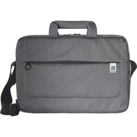 """Tucano Loop Carrying Case for 15.6"""" Notebook - Black, Gray - Handle, Shoulder Strap - 15.9"""" Height x 11"""" Width x 3"""" Depth"""