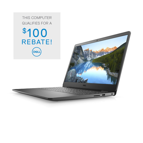 Dell Inspiron 15 3000 (3501) Laptop Computer Config 3 Non-Touch Accent Black 15.6in FHD 1 Year Onsite Warranty i3-1115G4/8/128GB