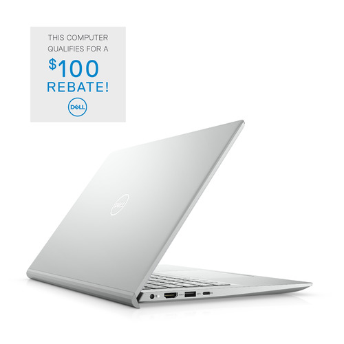 Dell Inspiron 14 5000 (5402) Laptop Computer Config 4 Non-Touch Platinum Silver 14in FHD 1 Year Onsite Warranty 2nd 2020 i7-1165G7/12/512GB