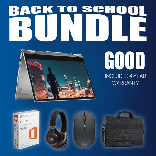 Good! Back-To-School Bundle - Dell Inspiron 14 5000 2-in-1 i5/8GB/256GB (4-Year Warranty)