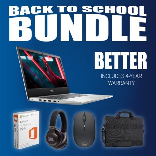 Better! Back-To-School Bundle - Dell Inspiron 15 5000 i5/8GB/256GB (4-Year Warranty)
