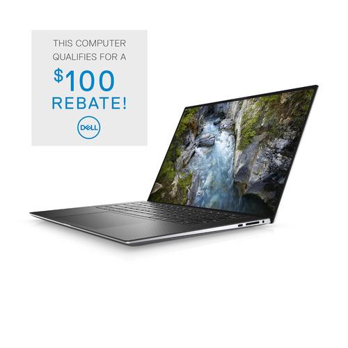 """Dell Precision 5000 (5550) 15.6"""" Laptop FHD+ Nvidia Quadro T1000 GPU i7-10750H/16 GB/512 GB SSD 3 Year ProSupport Plus Win 10 Pro"""