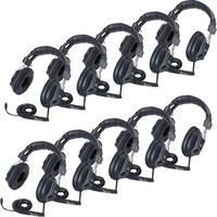 Califone 3068AV-10L Switchable Headphones Classpack - Stereo - Black - Mini-phone (3.5mm) - Wired - 36 Ohm - Over-the-head - Binaural - Circumaural - 10 ft Cable