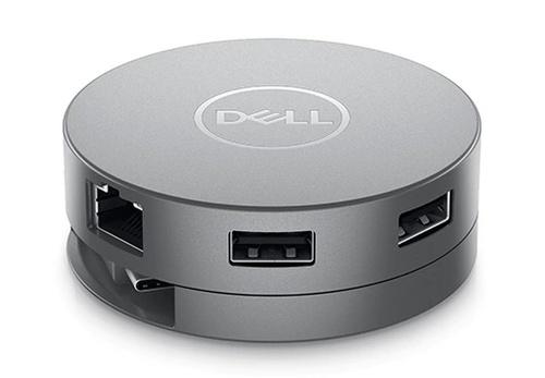 Dell DA310 USB-C Mobile Adapter - Gray 2.7x2.7x1in